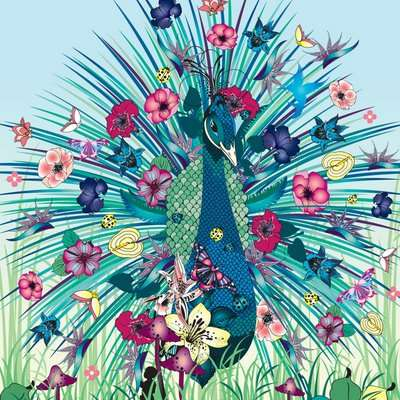 Psychedelic Floral Illustrations - Nadia Flower's Exquisite Artwork is An Explosion of Color