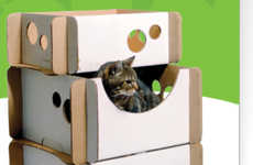 Corrugated Cat Habitats - Caboodle Eco-Friendly Cardboard Feline Furniture