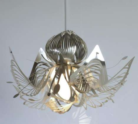 Flat-Packed Floral Lighting - Intricate Reassembled Masterpieces by Tord Boontje