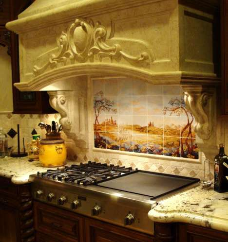 Picturesque Kitchen Mosaics