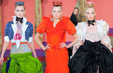 Technicolor Parisian Fashion - Christian Lacroix's Rainbow-Colored Runway Looks for S/S '09