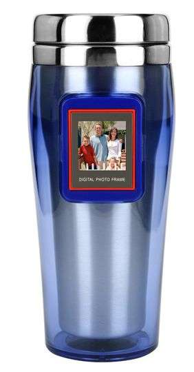Liquid Photo Frames - Digi-Mug Digital Photo Frame Mug Holds 45 Pictures