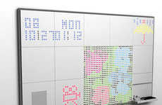 High Tech Office Utilities - The Iquad Interactive Board For Cutting Edge Office Spaces