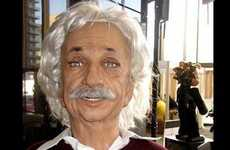 Famous Scientist Robots - Unresponsive Einsteinbot Gives People Blank Stares