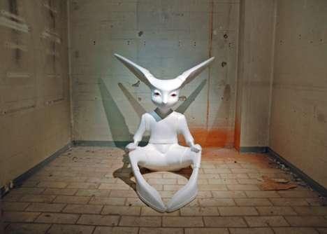Freaky Ceramic Rabbits