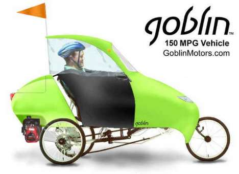 Energy-Efficient Personal Travel - The GoblinAero No Gas Hog Saves Environment and Your Money