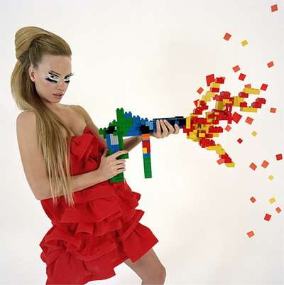 Fashionable Toy Guns - Couture House Lanvin Geeks it Up With Lego and Pacman