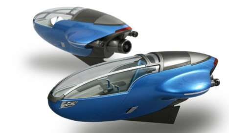 Aqua Compact Watercraft Ready to Dive in Future Underwater Cities