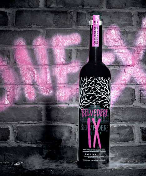 Graffiti-Inspired Liquor Bottles