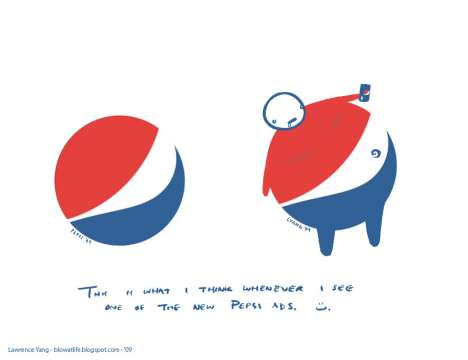 Soft Drink Adbusting - Lawrence Yang's Response to New Pepsi Logo