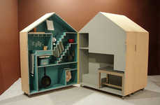 Playhouse-Inspired Kitchen Storage - This Adorable Mini-Shed Houses All Your Kitchen Utensils