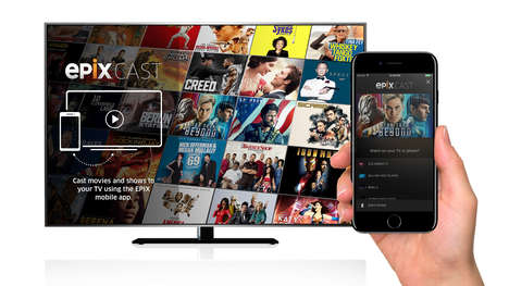 Direct Smart TV Casts - The Epix Cast Feature Sends Content to Smart TVs Straight from the App