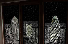 Cityscape Blackout Blinds - HoleRoll is Able to Transform Windows into Works of Art