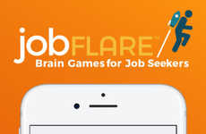 Gamified Job-Seeking Apps - JobFlare is an App for Finding a Job That Challenges One's Brainpower