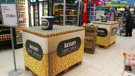 Hilariously Oversized Beer Cases - Finland's Nokia Brewery is Now Selling a 1,000 Can Beer Pack
