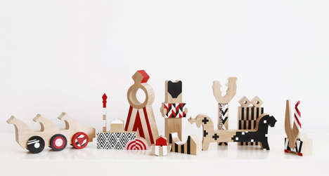 Russian-Inspired Wooden Toys - 52 FACTORY's RED DOLLS Modernize Traditional Russian Toys