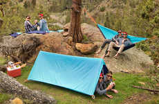 Versatile Camping Tarps - The 'MC Hammie' is a Tent, Hammock, and Blanket in One Tarp