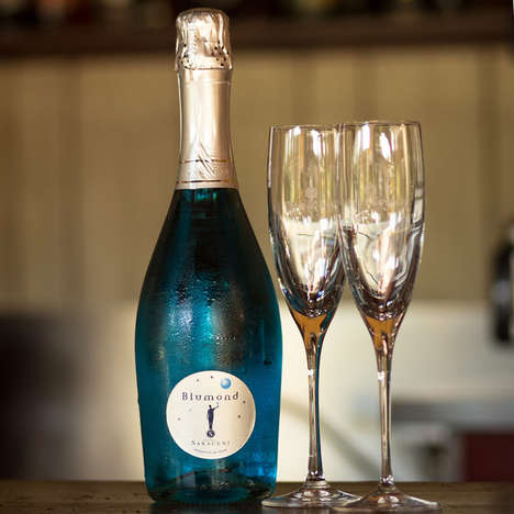 Blue Sparkling Wines - This Blue Prosecco from Blumond Contains One Special Ingredient