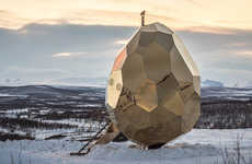 Gilded Sun-Harnessing Saunas - The 'Solar Egg' Outdoor Sauna Uses the Power of the Sun for Operation