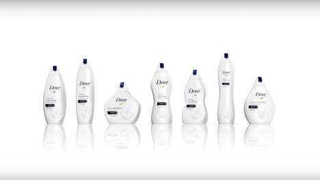 Shapely Shampoo Bottles - Dove's Shampoo Bottle Shapes Represent Beauty in All Shapes and Sizes