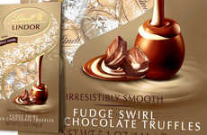 Indulgent Fudge-Filled Truffles - Lindt's Lindor Fudge Swirl Truffles Contain Two Kinds of Filling