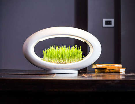 Illuminated Micro Gardens - Etsy's Valsfer Shop Specializes in Eco Lighting Fixture Planters