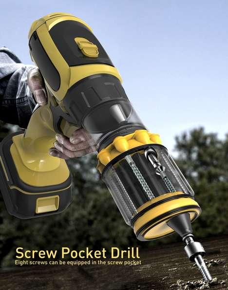 Screw-Encapsulating Power Drills