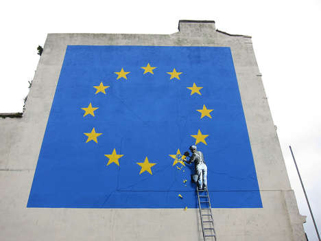 Politically Significant Street Art - Banksy Posted a New EU-Themed Mural in Dover, England