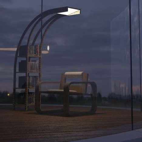 Illuminating Bookshelf Furniture