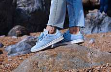 Minimalist Sky Blue Sneakers - These New Stan Smiths Have Perforated Uppers and a Feminine Look