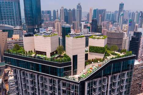 Skyscraper Rooftop Parks - Hong Kong's 'SKYPARK' is an Urban Park for its Residents
