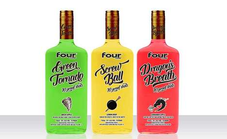 Vibrant Alcohol Brand Shots - The Four Loko Shots are Bold in Flavor and Branding
