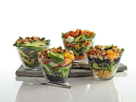 Multi-Layered Avocado Salads - El Pollo Loco's Newest Menu Addition is Accentuated by Clear Bowls
