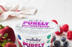 Sugar-Free Yogurt Branding - Wallaby Organic's 'Purely Unsweetened' Line is Free from Sugar
