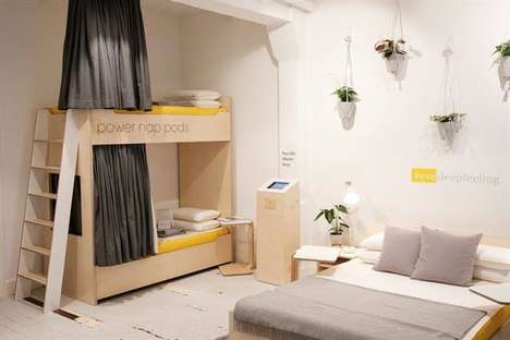 Pop-Up Napping Stations - The Nap Station Was an Interactive Marketing Tactic by the Brand eve