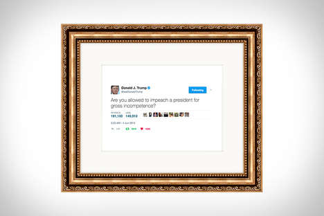 Social Media Artwork Services - Framed Tweets Turns Small Blurbs into Twitter Artwork