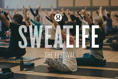 One-Day Athletic Festivals - Lululemon's 'Sweatlife the Festival' Offers Workouts, Meditation & More