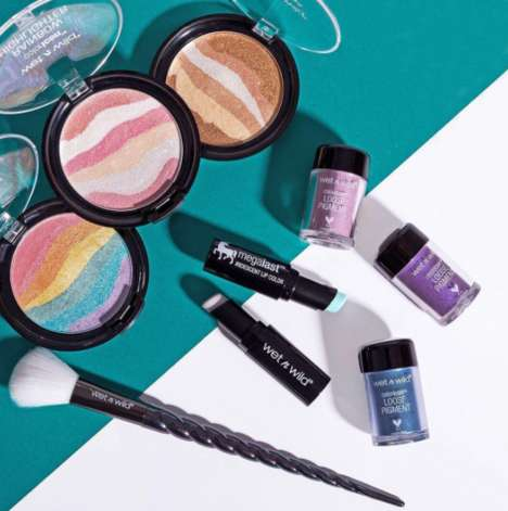 Rainbow Cosmetic Kits - Wet N Wild's 'Unicorn Glow Box' is a Limited Set of Multi-Colored Cosmetics