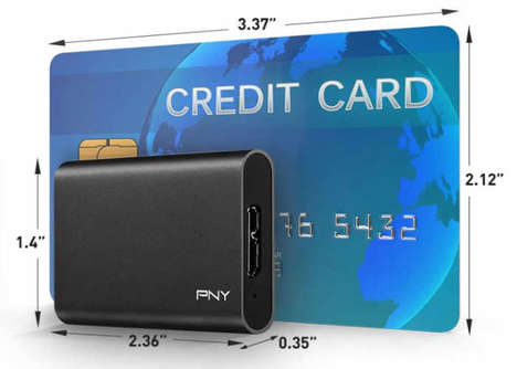 Petite Portable Data Drives - The PNY ELITE Portable USB SSD Has Expansive Storage in a Small Size