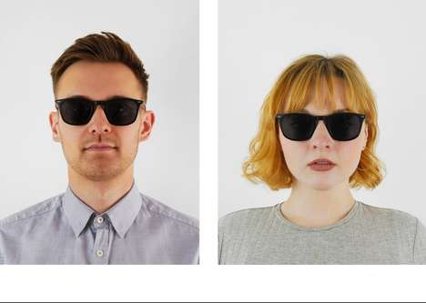 1950s-Inspired Minimalist Sunglasses