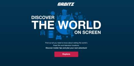 Branded Movie Maps - Orbitz Created a Unique Film-Focused Travel Map for Film Geeks