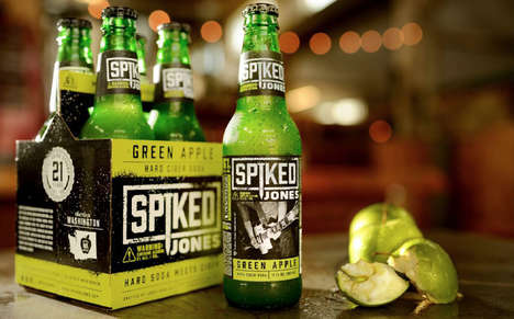 Hybrid Soda Cider Libations - The Spiked Jones Hard Cider Soda is a Premium Sparkling Drink
