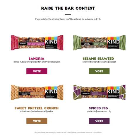 Crowdsourced Snack Bar Flavors - KIND is Inviting Fans to Vote for a New Flavor with 'Raise the Bar'