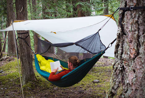 The Therm-a-Rest Slacker Hammock House Creates a Hanging Home in the Woods