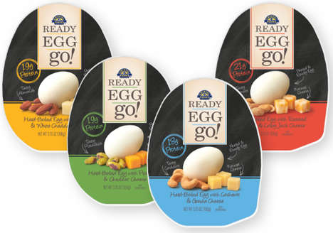 These Protein-Rich 'READY EGG go!' Snacks Pair Eggs with Nuts and Cheese