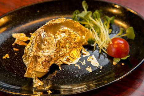 Edible Gold Dumplings - For a Limited Time, Gyoza no Antei is Serving Gold Leaf Asian Dumplings