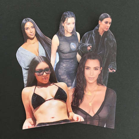 Nostalgic Celebrity Stickers - These Kim Kardashian Stickers are Inspired by Retro Scrapbook Accents