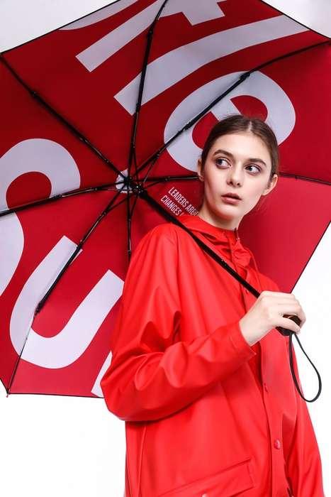 Boldly Branded Rain Fashion