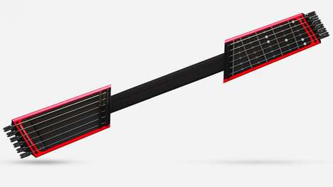 Compact Electric Guitars - The 'Jammy' Slide Guitar is Compact and Connects to Your Smartphone