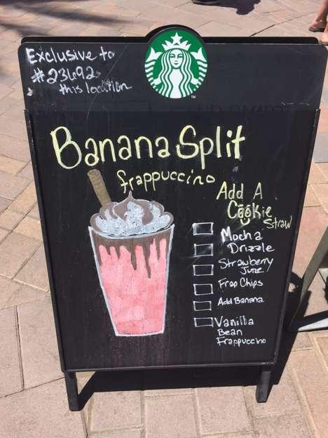 Banana Split Frappuccinos
